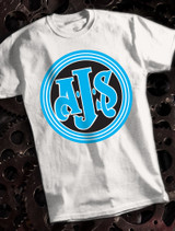 AJS Mens T-shirt on White