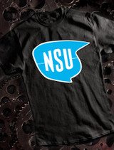 NSU Mens T-shirt on Black