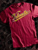 Velocette Motorcycles Mens T-shirt on Maroon