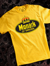 Monark Mens T-shirt on Yellow