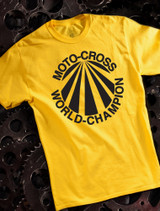 Suzuki World MX Mens T-shirt on Yellow