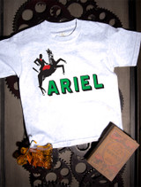 Ariel Kids T-shirt on Ash