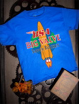 BSA Big Valve Kids Tee on Blue