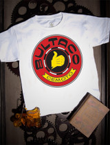 Bultaco Red Logo Kids Tee on white