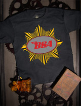 BSA Goldstar Kids Tee on Black