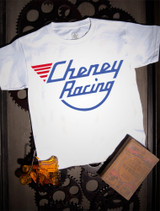 Cheney Racing Kids Tee on white.