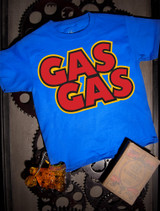 Gas Gas Kids Tee on Blue