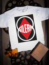 Gilera Kids Tee on white.