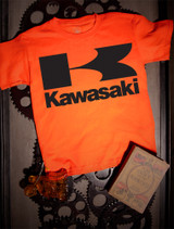 Kawasaki Kids Tee on Orange
