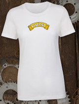 Vincent Ladies Tee on White