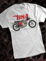 BSA Motorcycles A65 bike Mens T-shirt on ash