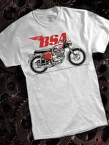 BSA Motorcycles A65 bike Mens T-shirt on ash