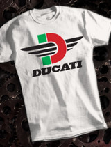 Ducati D Mens T-shirt on White