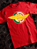 Ducati Meccanica Mens Tshirt on Red