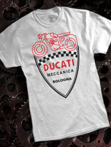 Ducati Serice Mens T-shirt on Ash