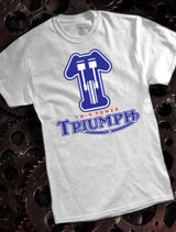 Triumph Twin Power Mens T-shirt on Ash