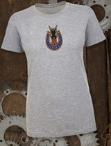 Ariel Badge Ladies T-shirt on Gray