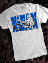 Gary Nixon Dirt Track Mens T on Ash
