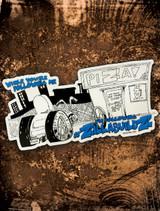 Zzilla Builds Bumper Sticker
