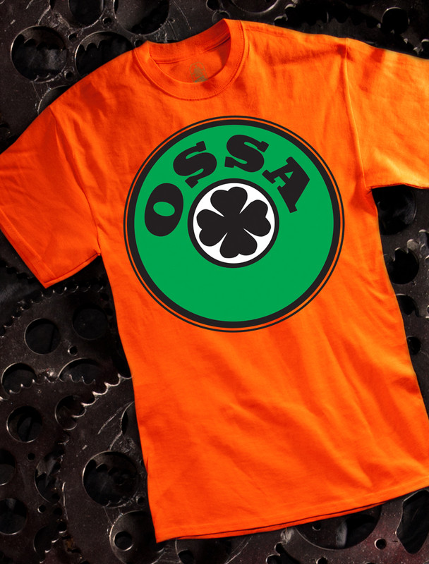 Ossa Mens T-shirt on Orange