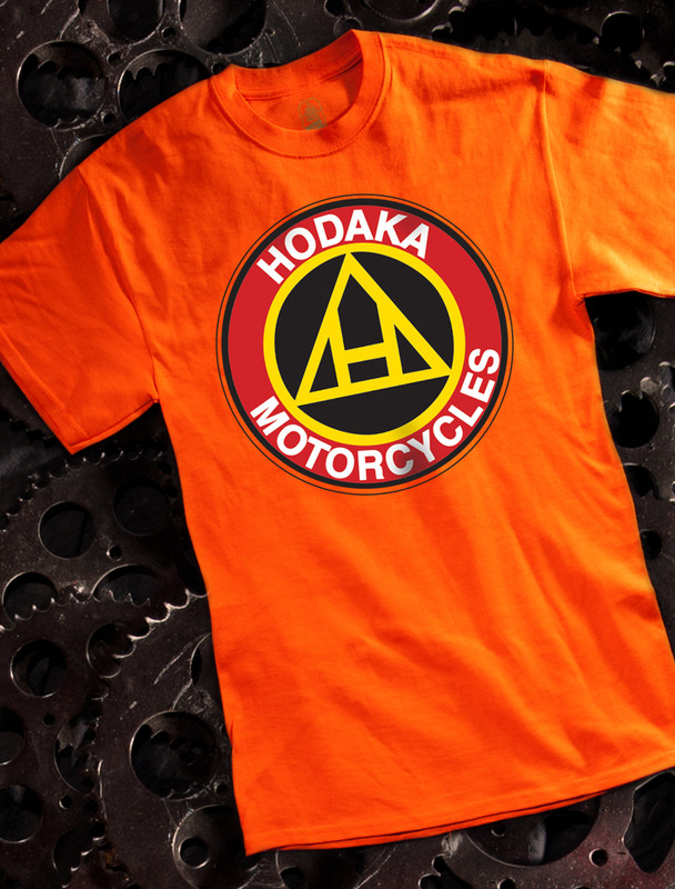 Hodaka Mens T-shirt on Orange