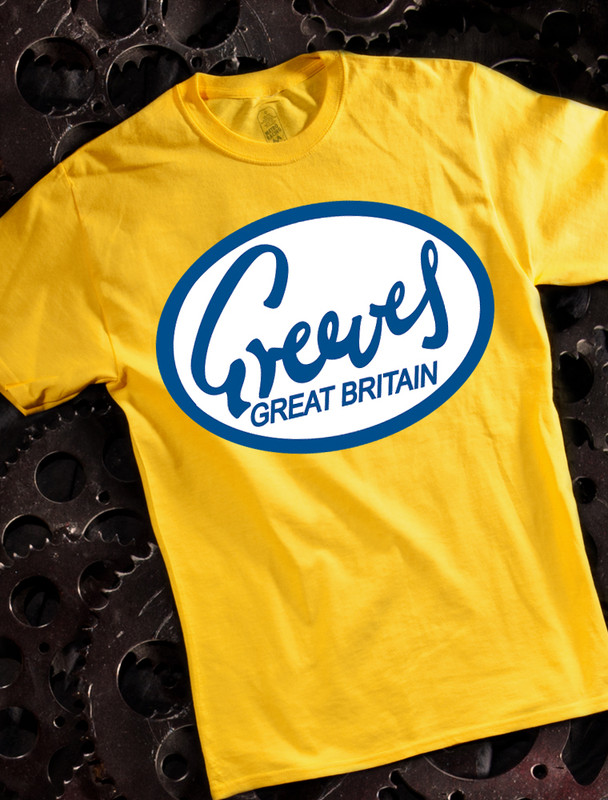 Greeves Mens T-shirt on Yellow
