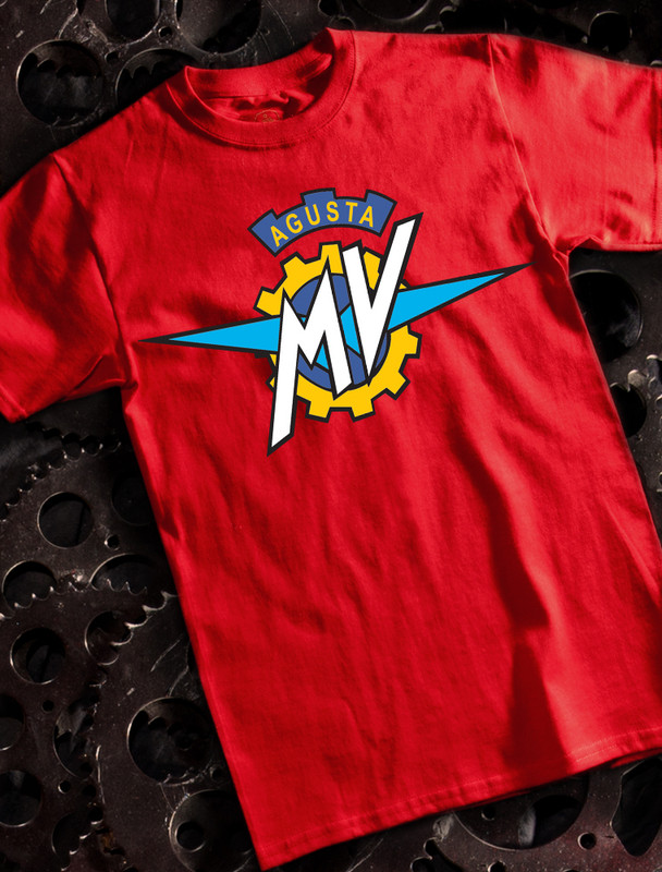 MV Agusta Mens T-shirt on Red