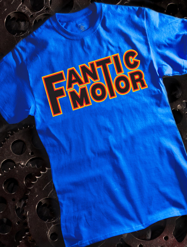 Fantic Motor Mens T-shirt on Blue