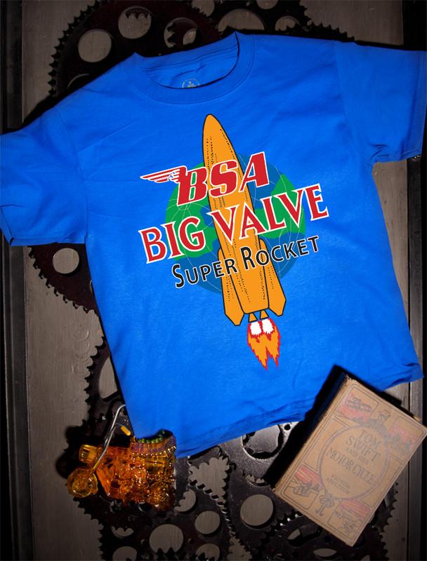 BSA Big Valve Kids Tee on Blue