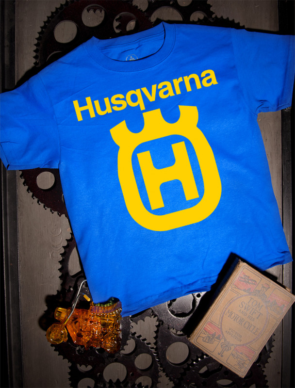 Husqvarna Kids Tee on Blue