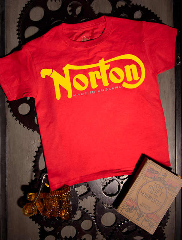 Norton Kids Tee on Red