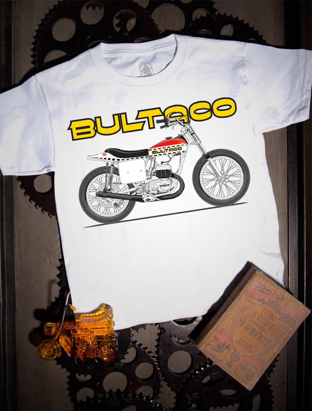Bultaco Astro Bike Kids Tee on white