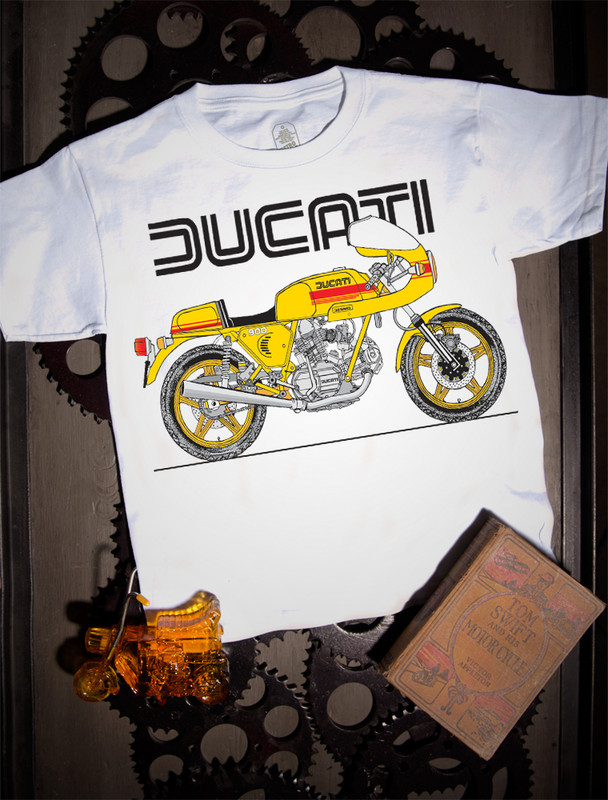 Ducati 900SS Kids Tee on white