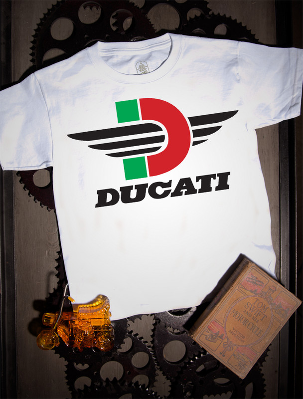 Ducati Kids Tee on white.