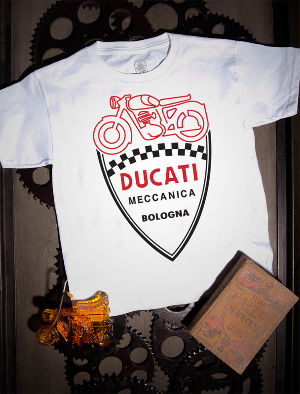 Ducati Serice Kids Tee on White