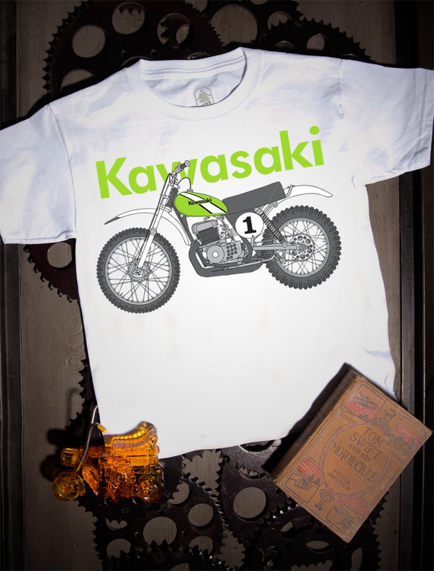 Kawasaki KX Kids Tee on white