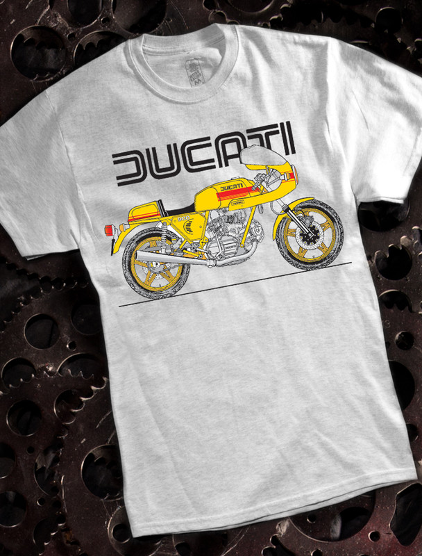 Ducati 900ss Mens Tshirt on Ash