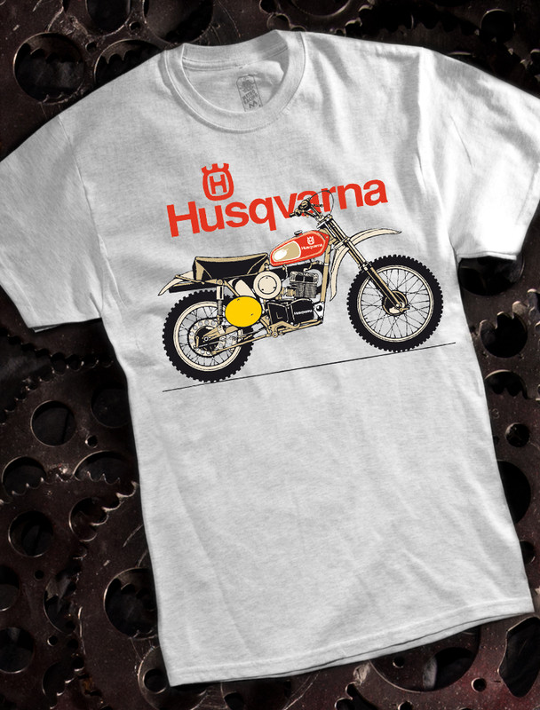Husqvarna Motorcycle Mens T-shirt on Ash