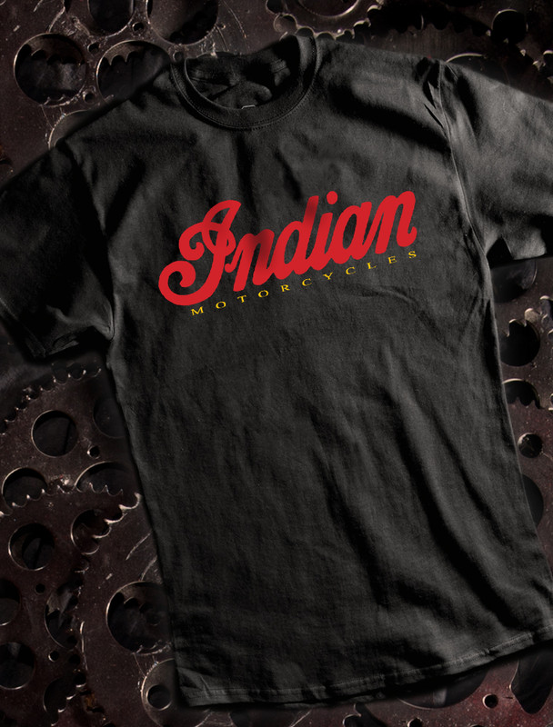 Indian Mens T-shirt on Black