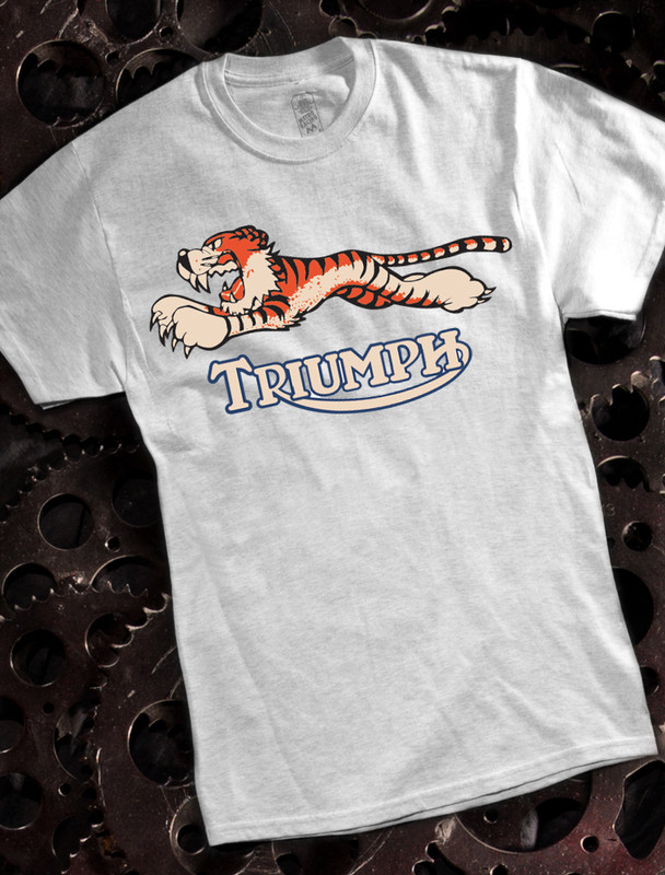89dbd530 Triumph Tiger Mens T-shirt on Ash ...