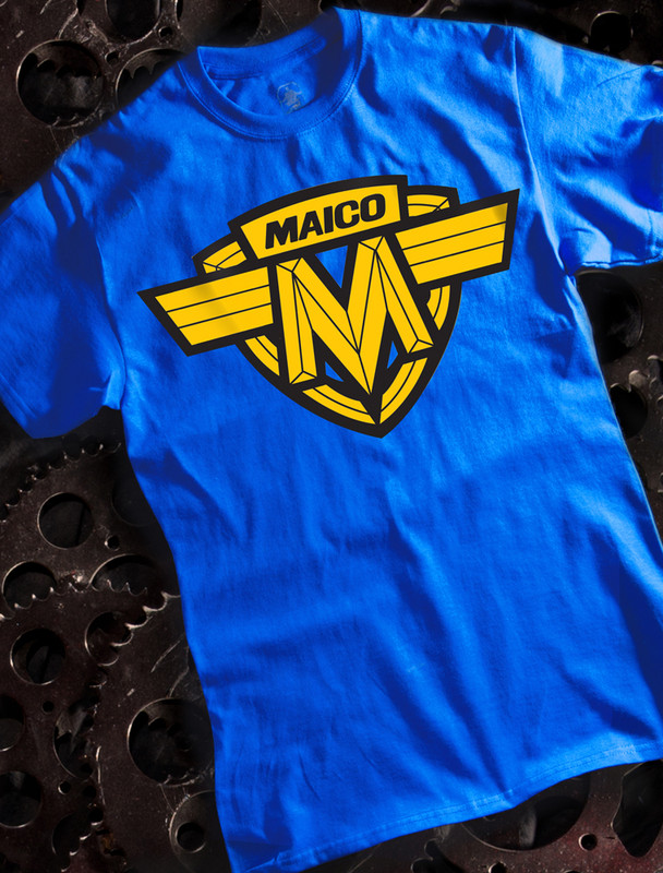 Maico Mens T-shirt on Blue