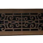 Madelyn Carter Baroque Floor and Wall Registers - Oil Rubbed Bronze