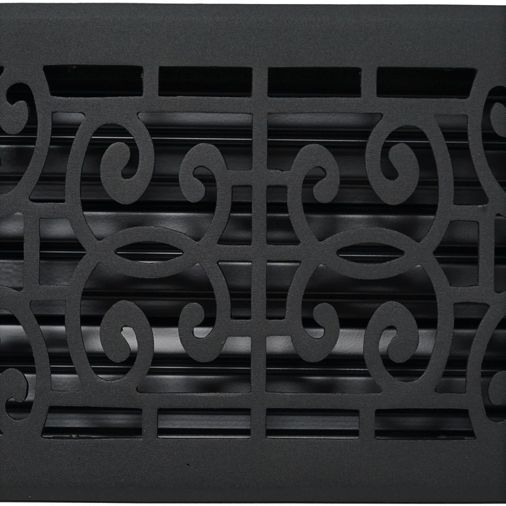 Madelyn Carter Baroque Floor and Wall Registers - Black