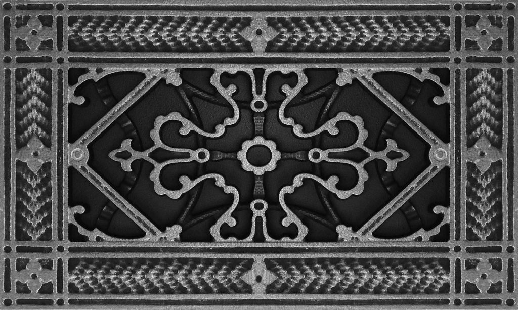Pewter Vent Cover Arts and Crafts