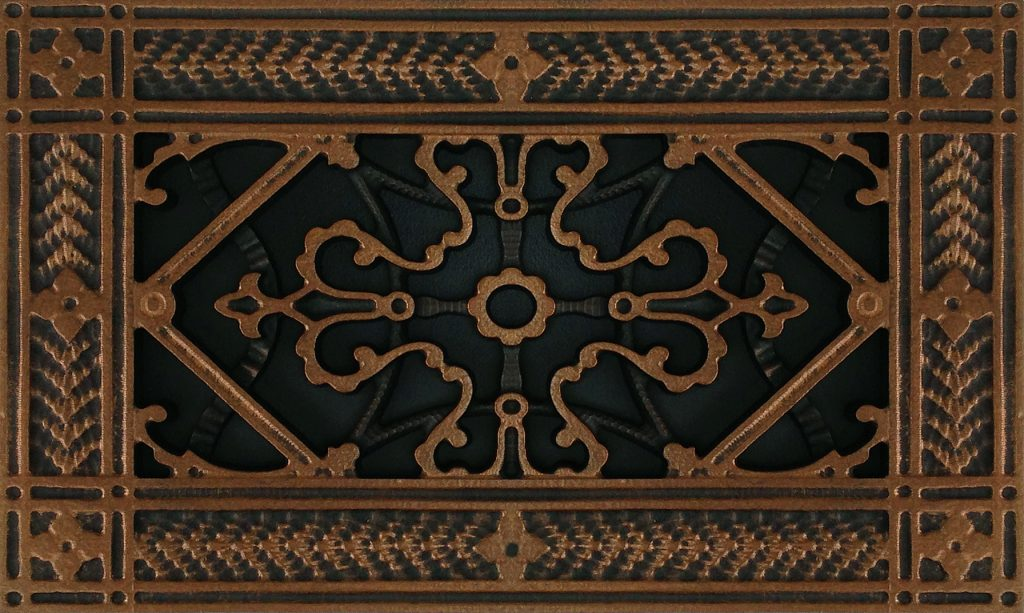 Rubbed Bronze Vent Cover Arts and Crafts