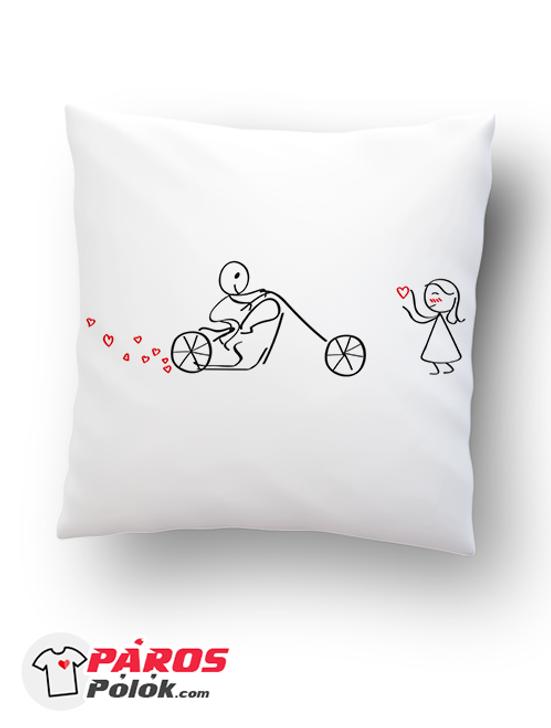 Motoros szerelem párna