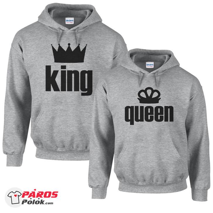 King and Queen világosszürke pulóver csomag