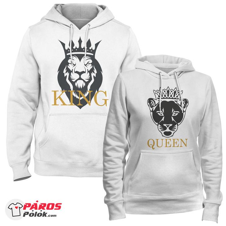 Lion King and Queen Fehér pulóver csomag