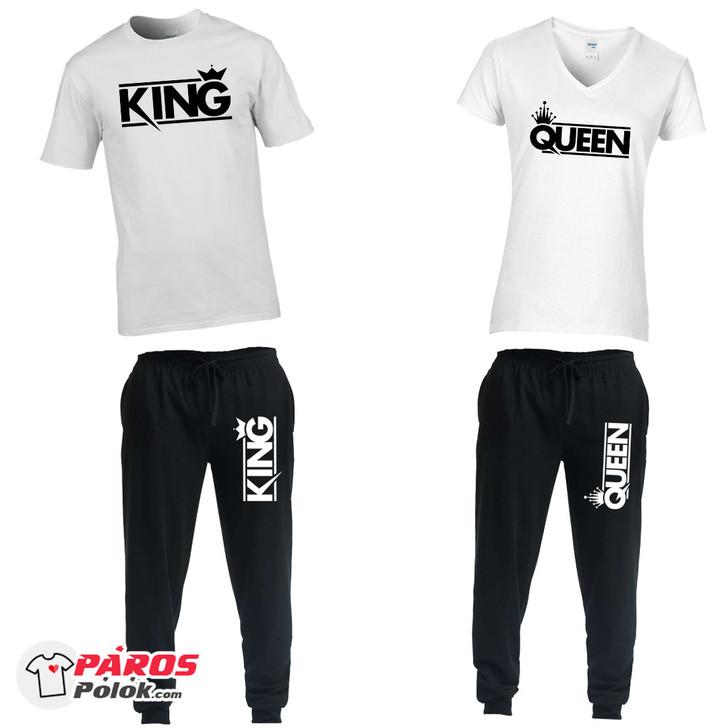 Modern King and Queen nadrág + póló csomag