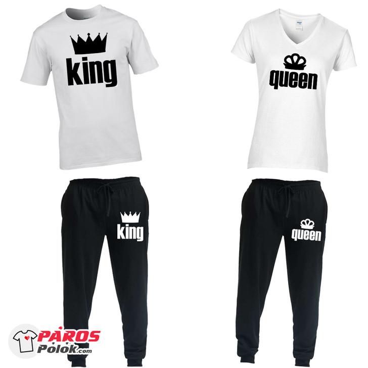 King and Queen nadrág + póló csomag